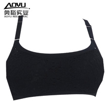 Молодые женщины бесшовные черный йога носить спортивный бюстгальтер