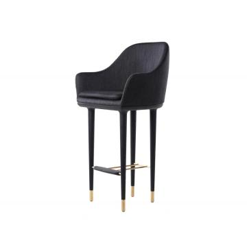 Lunar bar stool high back club chair