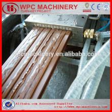 Recyceln Sie Plastik + Holz (Reisschale / Stroh / Holz) Plastik (PP / PE / PVC) zusammengesetzte wpc Produktionslinie wpc Maschine