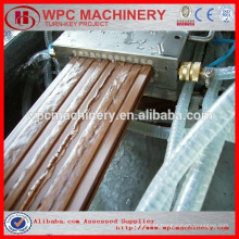 Reciclagem de plástico + madeira (casca de arroz / palha / madeira) plástico (PP / PE / PVC) linha de produção composta wpc máquina wpc