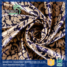 Custom Heat Transfer Printed polyester satin fabric