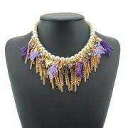 Statement Necklace Jewelry Stylish Women Gender Princess Costume Chain Decoration Necklace Gemstone Jewelry Necklace (EN0571)