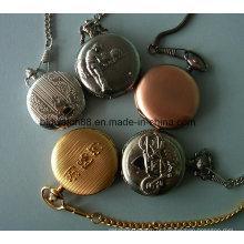 Cadeia de relógio de bolso de quartzo antigo feito-à-medida