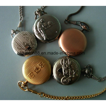 Cadena de reloj de bolsillo de cuarzo antiguo por encargo