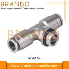 Außenzweig-T-Stück pneumatische Messingkupplungen einschieben