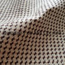Tissu teintée de fil de chanvre avec Lurex (QF13-0110)