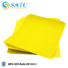 SATC yellow color sanding paper sheet with high quality and good price