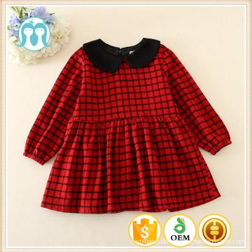 High Fashion Winter Kinder Wolle Langarm Kleid für Kinder Kleidung