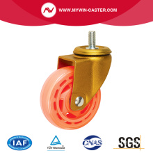 Nylon transparent roue filetage tige Caster