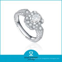 2016 elegante partido 925 anel de prata esterlina com cz (r-0355)