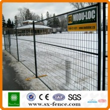 Construction site fence barrier