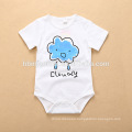 2018 New Born Baby Clothing Baby Toddler Clothing Organic Cotton Plain White Baby Romper