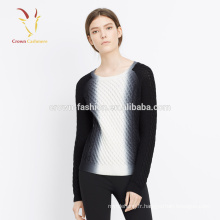 Noir Blanc Meilleur Pulls Pure Cashmere Vêtements