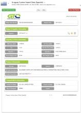 Các bộ phận máy móc thiết bị nhập khẩu Uruguay dữ liệu