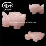 Newest Style Natural Semi-precious Stone Rose Quartz Kylin sculpture