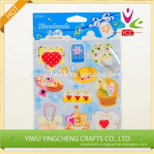 2014 new product handicraft 3D paper sticker for wholesale