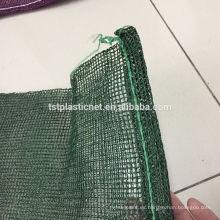 Tapa de malla en color verde amarillo con parte superior de malla de raschel con cordón (Hebei Tuosite Plastic Net)