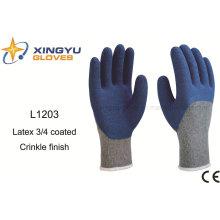 10g T / C Shell Latex 3/4 beschichtete Crinkle Sicherheit Arbeitshandschuh (L1203)