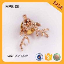 MPB09 Insignias de pernos de metal personalizados broche de monedas