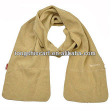 winter pocket polar fleece scarf