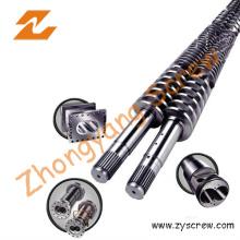 Twin conique vis Canon pour l'Extrusion de tubes (ZYT375)
