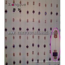 Kubische Crystal Glass Bead Kunsthandwerk Vorhang