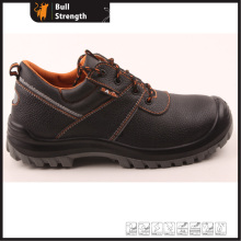 Low Cut Genuine Leather Safety Shoe with Steel Toe (SN5267)