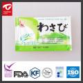 mini pâte de wasabi en sachet avec certificat FAD