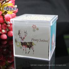 Caixa de presente de acrílico de cristal com tampa