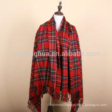 100% wool throw british tartan home furnishing throw blanket