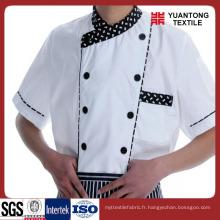 100% coton 40 * 40 110 * 70 pour faire des vêtements de chef