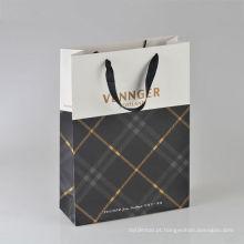 Sacos de papel recicláveis da compra da embalagem do punho da característica