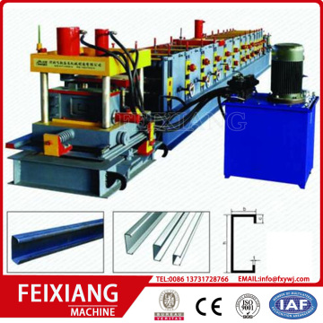 C z frame steel roller  making machine