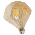 Factory Direct Sell Flat Diamond LED Filament Bulb with Gold Cover