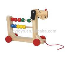 Потяните игрушку деревянную игрушку счетчика