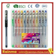 12 pluma de la tinta del gel de PCS en caja de PP