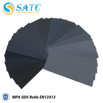 36 Pieces 9*3.6 Inches Wet or Dry Sand Paper with Grit from 400 to 3000