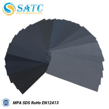 36 peças 9 * 3.6 polegadas de papel de areia molhada ou seca com grão de 400 a 3000