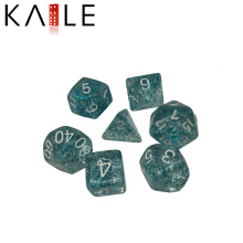 Best Price Glittering and Transparenth Blue Polyhedral Dice