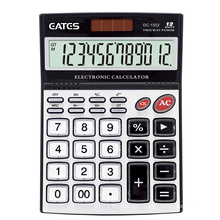 Different touching feeling Two way power  12 digit calculator office transparent special button calculator DC-1502