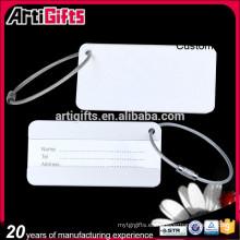 Wholesale etiquetas de equipaje de aluminio anodizado de metal