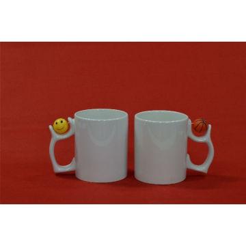 Cute Handle White Mug