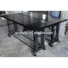 Industrial Console Table Cast Iron Leg
