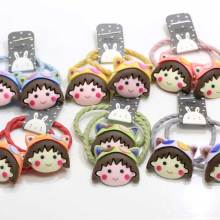 Kawaii Girls Women Cartoon   Hair Accessories Elastic  Ties Hair Ropes Fashion Headbands Ponytail Holders Hair Rings