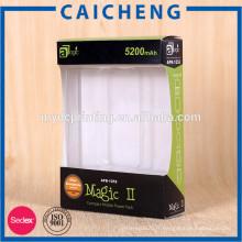 Boîte de fenêtre en papier pour emballage d'énergie mobile avec insert blister