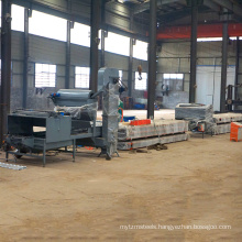 Stone chip coated glue metal steel roofing roll forming former making stone coated metal tile production line for sale