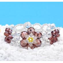 Pulseira de cristal, pulseira de cristal grânulos