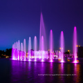 music dancing fountain with led lights