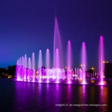 Musiktanzbrunnen mit LED-Lichtern