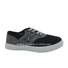 Zapato de lona que camina clásico del niño chino (L099-S & B)